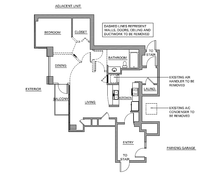 DIY Renovation of Architect's Condo Phase 1 One Design After Floor House Plan LG Squared Inc Jodi Laumer-Giddens