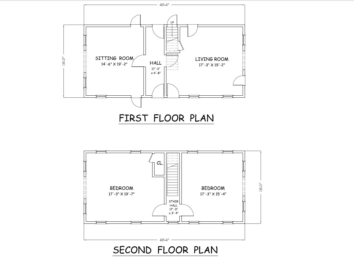 Molette House Existing Floor Plans LG Squared, Inc.