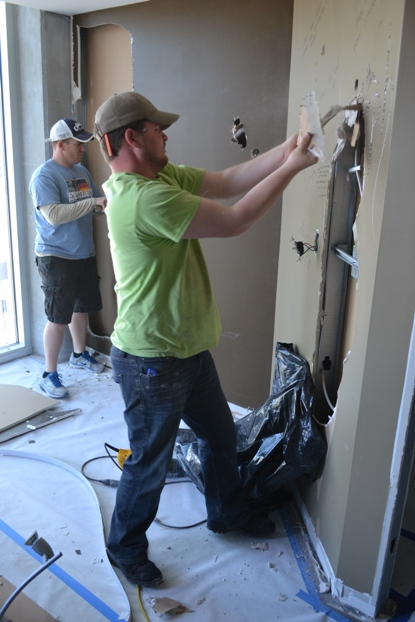 Chuck Rose and David Stalker DIY Condo Remodel Renovation LG Squared, Inc. Atlanta 3