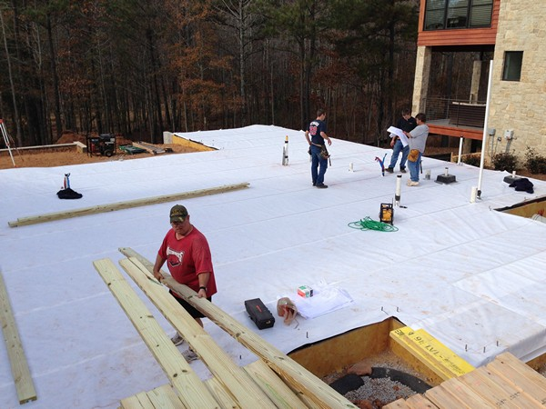 Slab on Grade finished, Getting ready for Framing