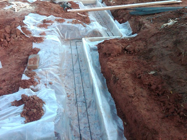 Proud Green Home Construction Update Footing Capillary Break
