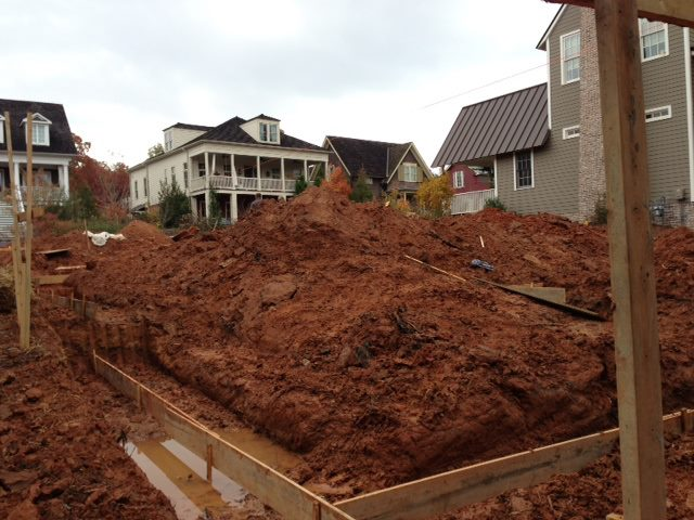 Proud Green Home at Serenbe Construction Update: Installing the Footings