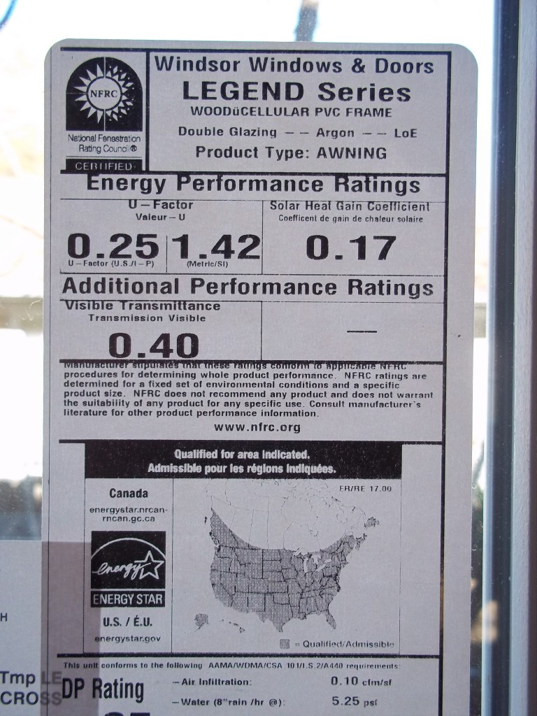 Certified ENERGY STAR, Integrated Design, High Performance Windows