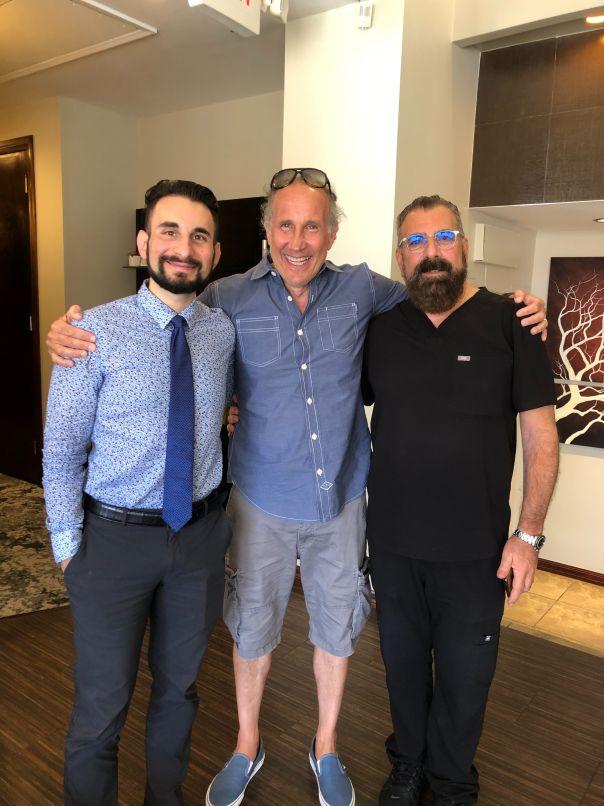 Patient Chris with Dr. Cona & DVC Stem Director, Frank