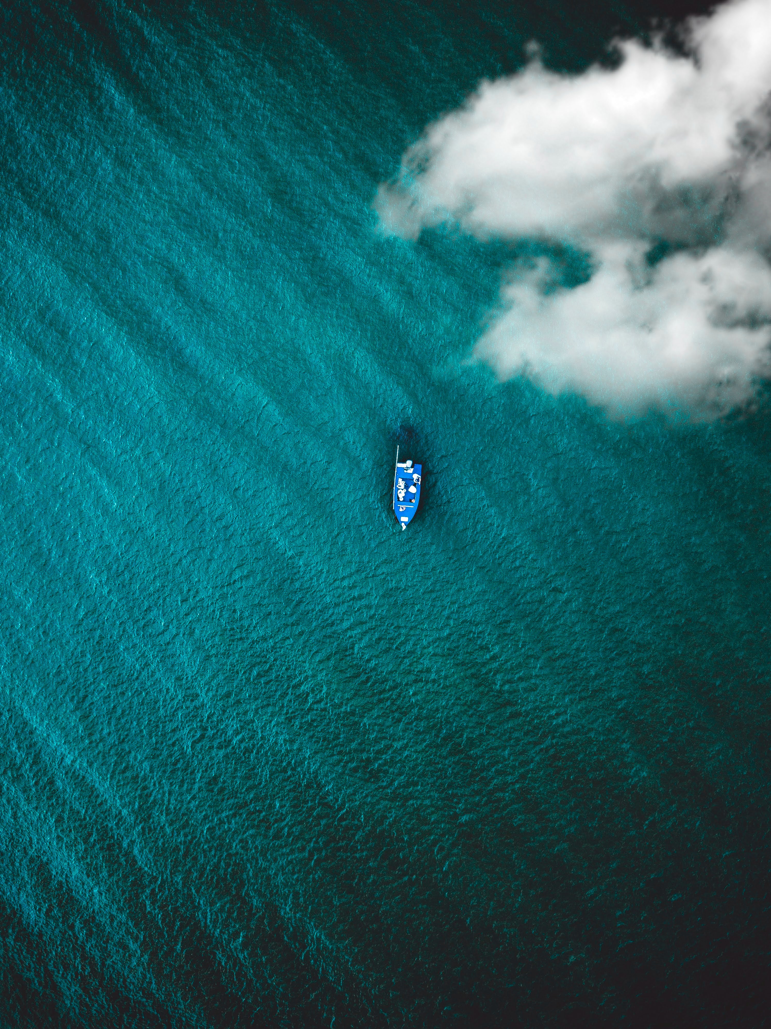 Boat sailing through water