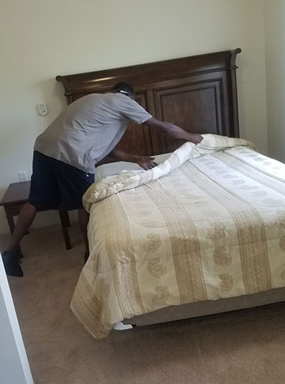 Fixing a bed