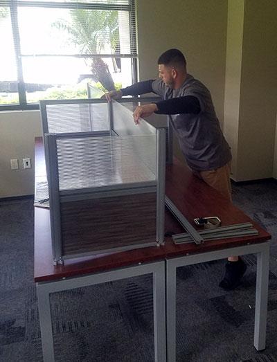Taking a desk apart