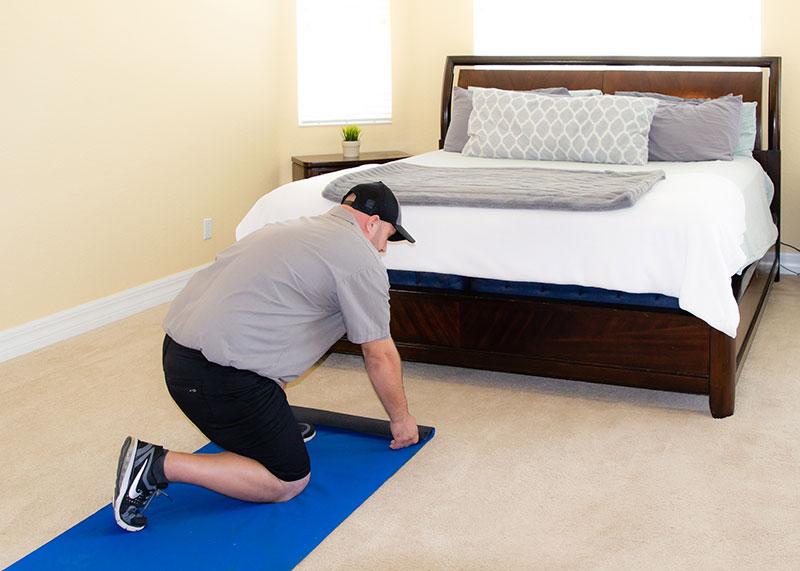 Placing runner over carpet