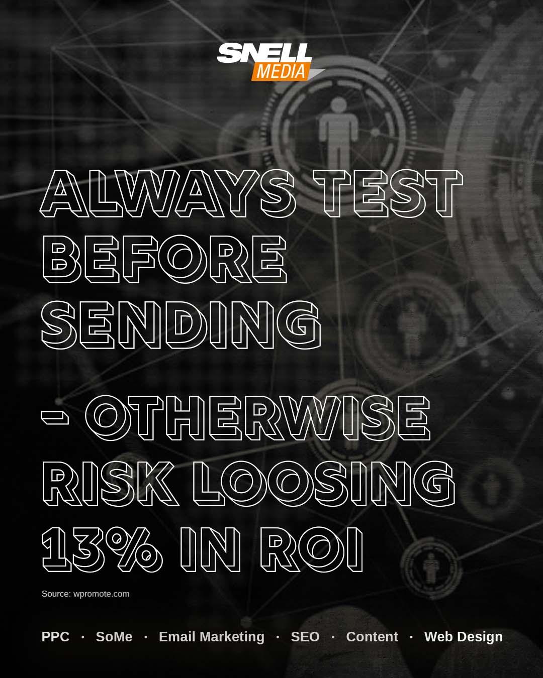 Always Test Before Sending