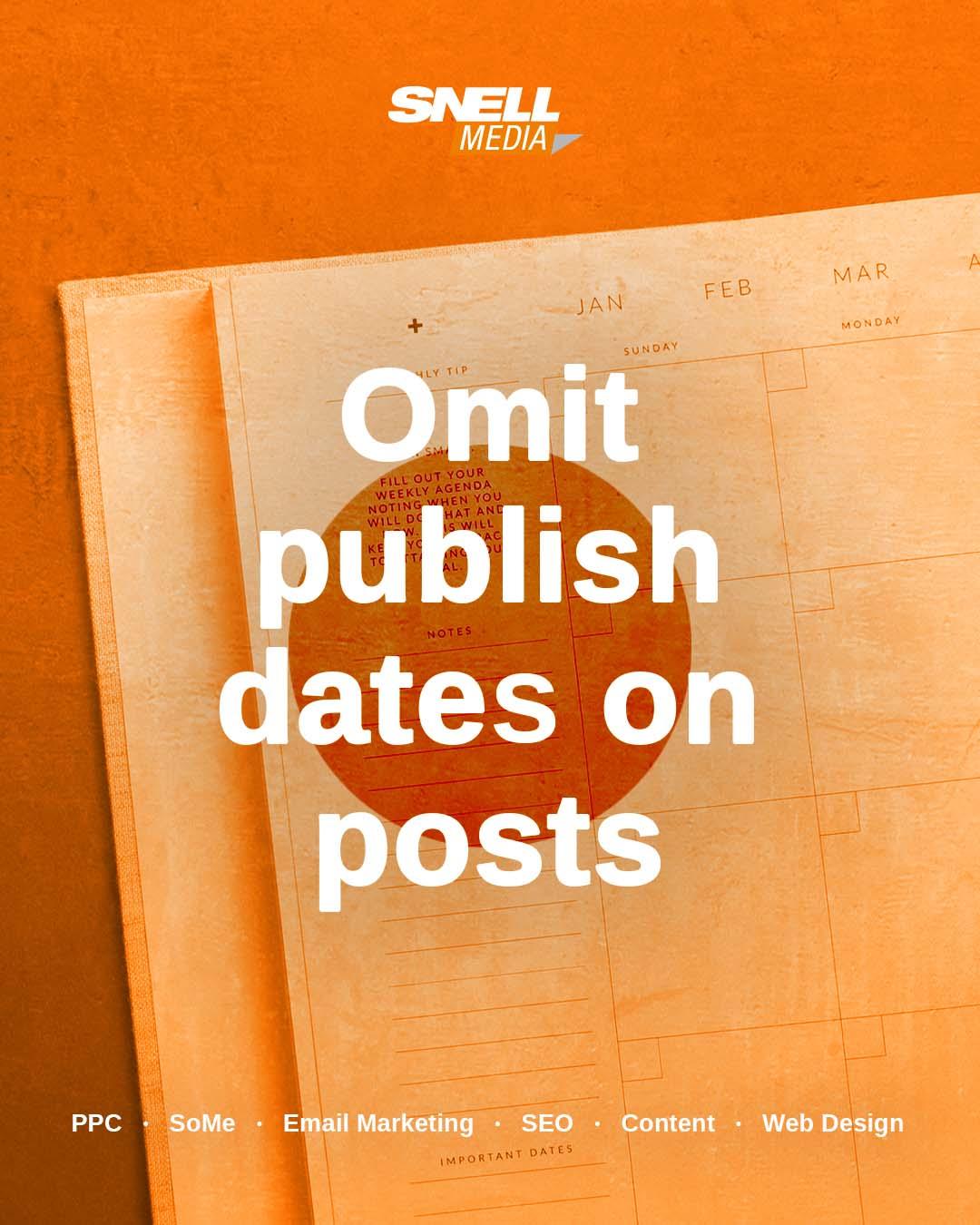 Omit Publish Dates on Posts