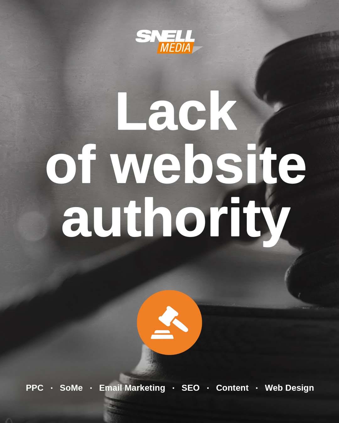Lack of Website Authority
