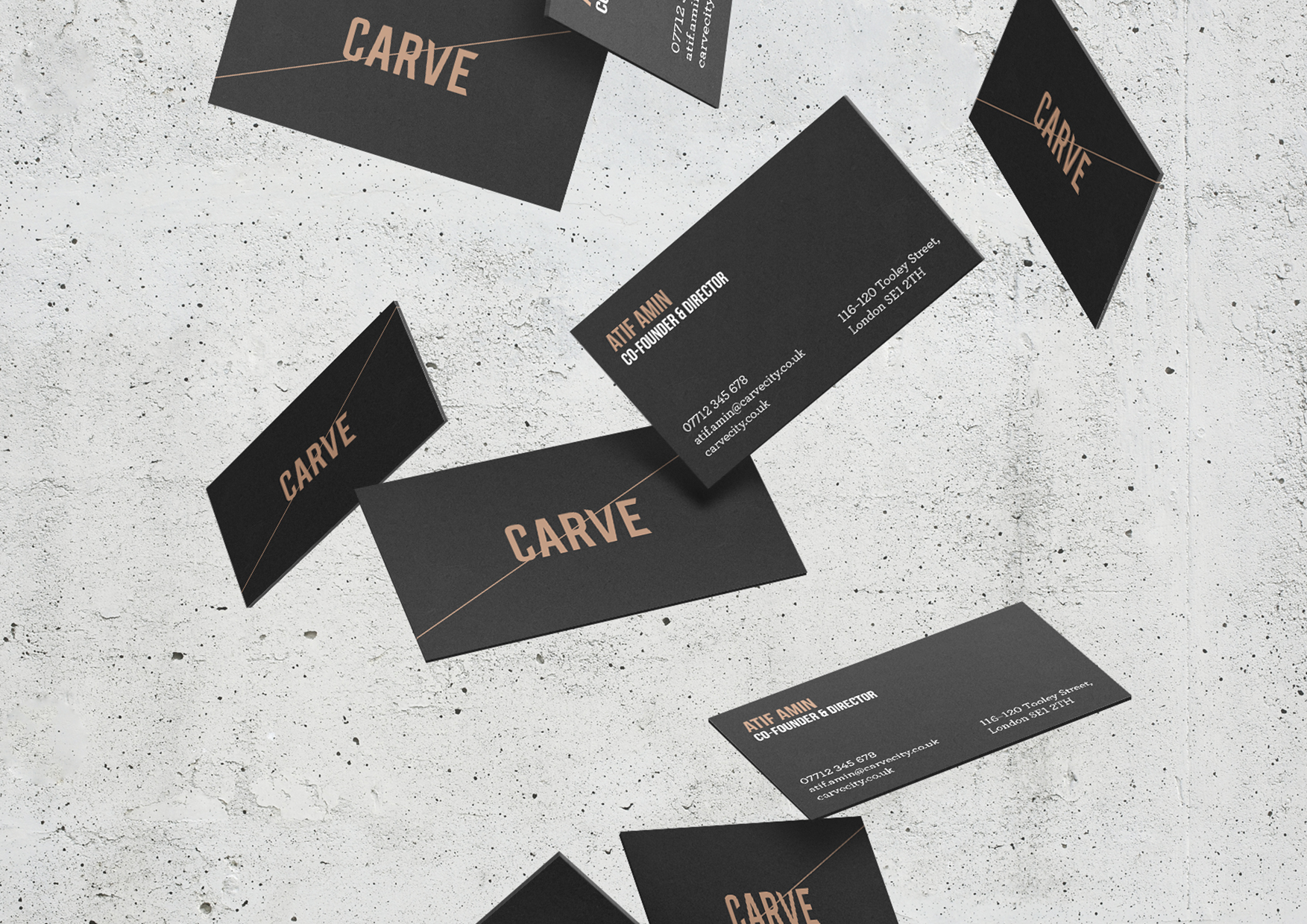 Carve Business Card Design Benjamin Michael Design