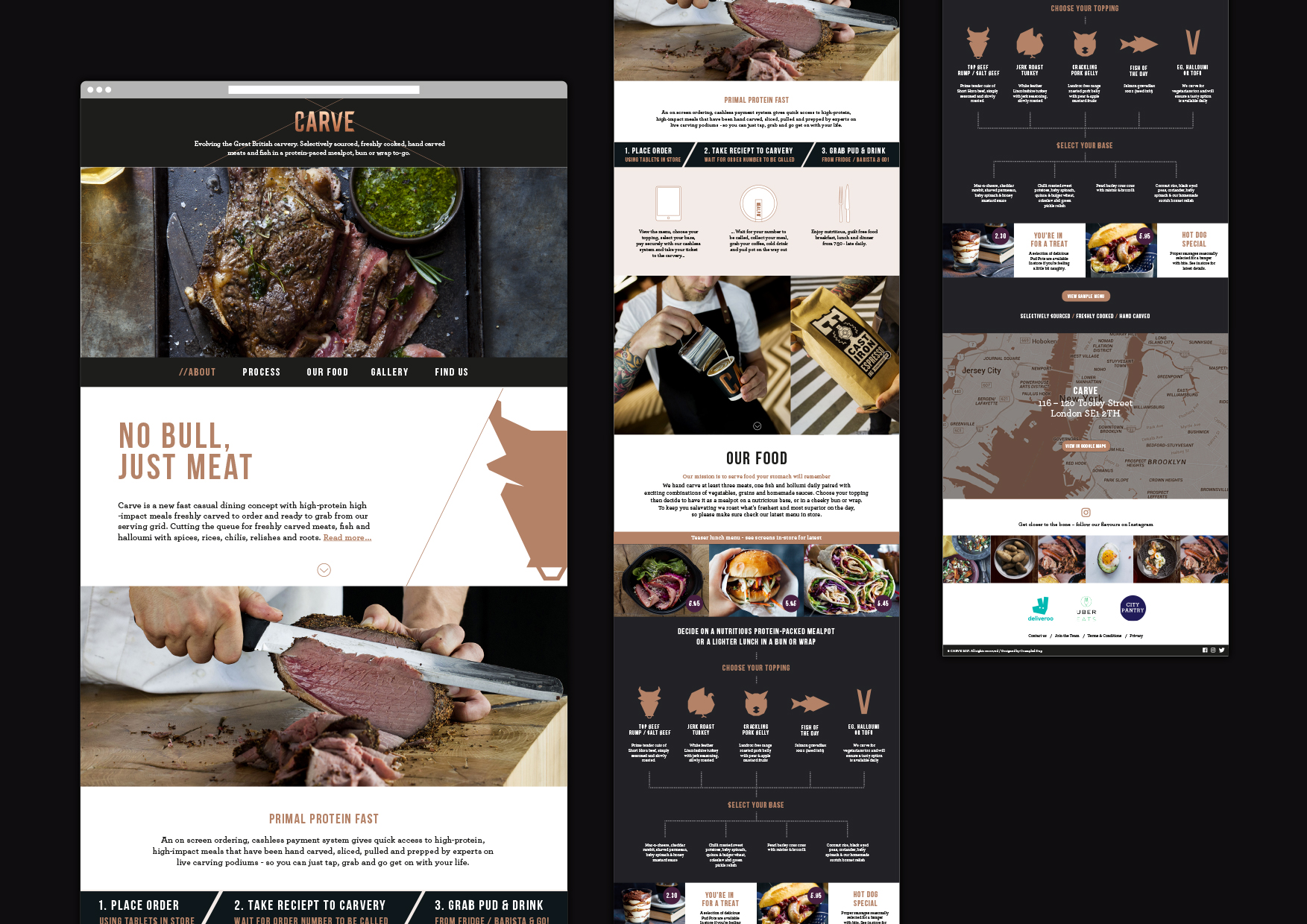 Carve branding website design
