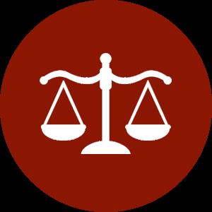 A judicial scale icon