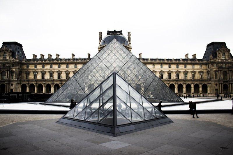 The Louvre Museum pyramids