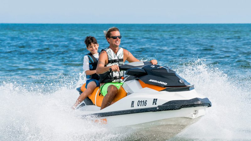 Jet Skiing on the Water