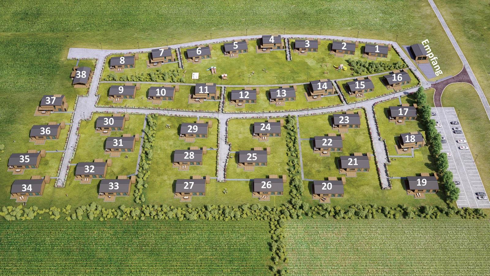 Lageplan 38 Häuser