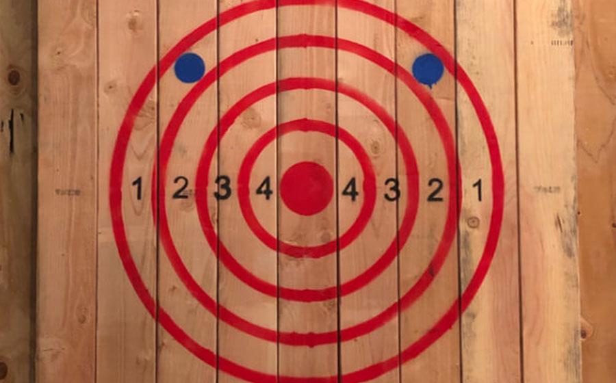An axe target.