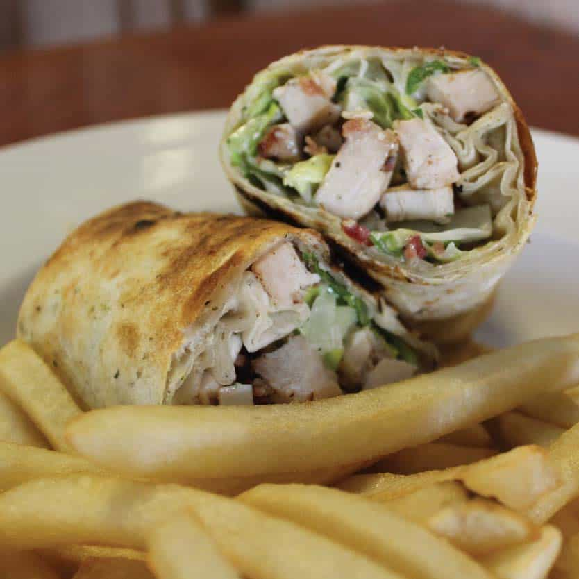 CLUB WRAP AND FRIES