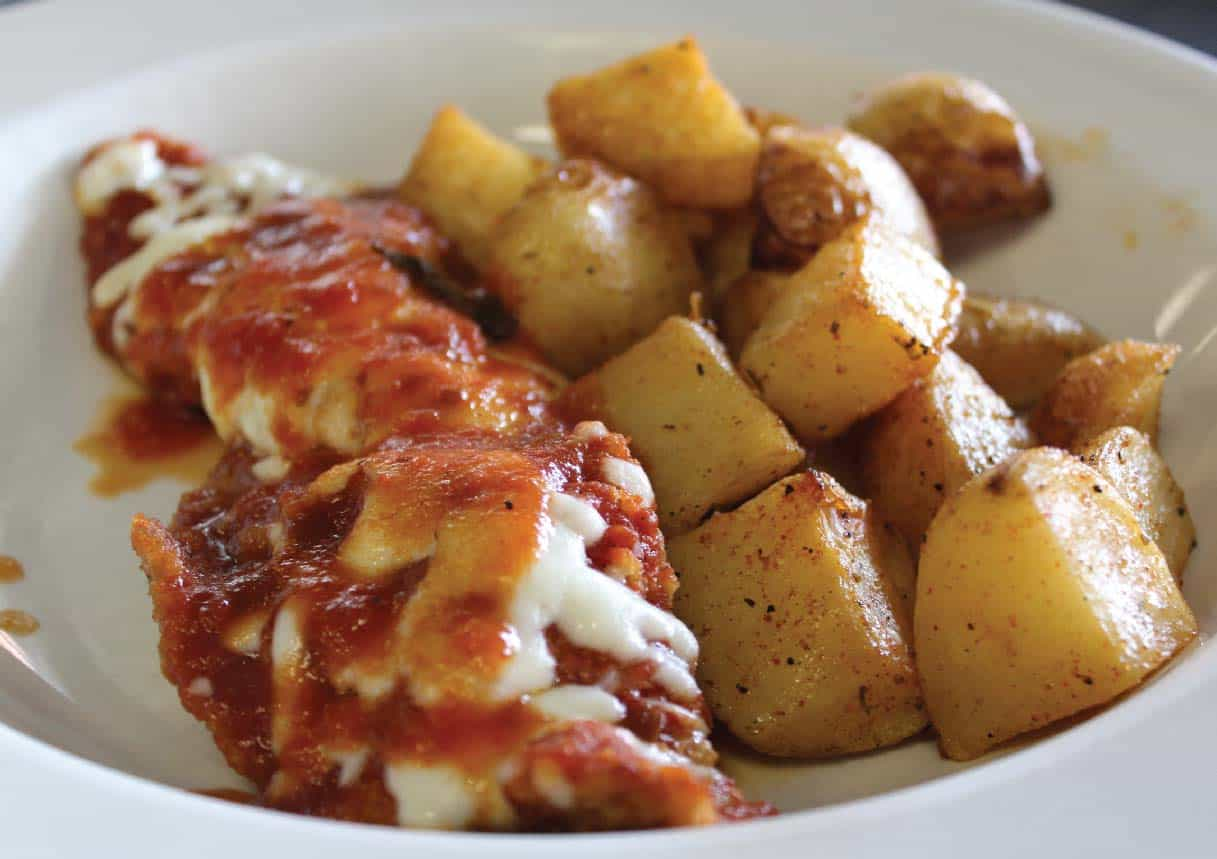 CHICKEN PARMESAN AND POTATOES