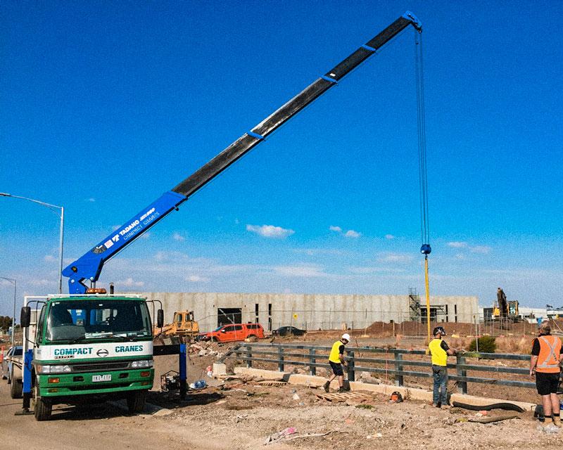Tadano Crane Truck Lifting Steel Erection in Geelong & Melbourne
