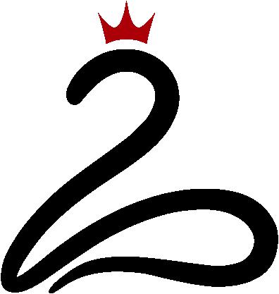 Logo Queen of Second Life: stilisierter Schwan mit Krone