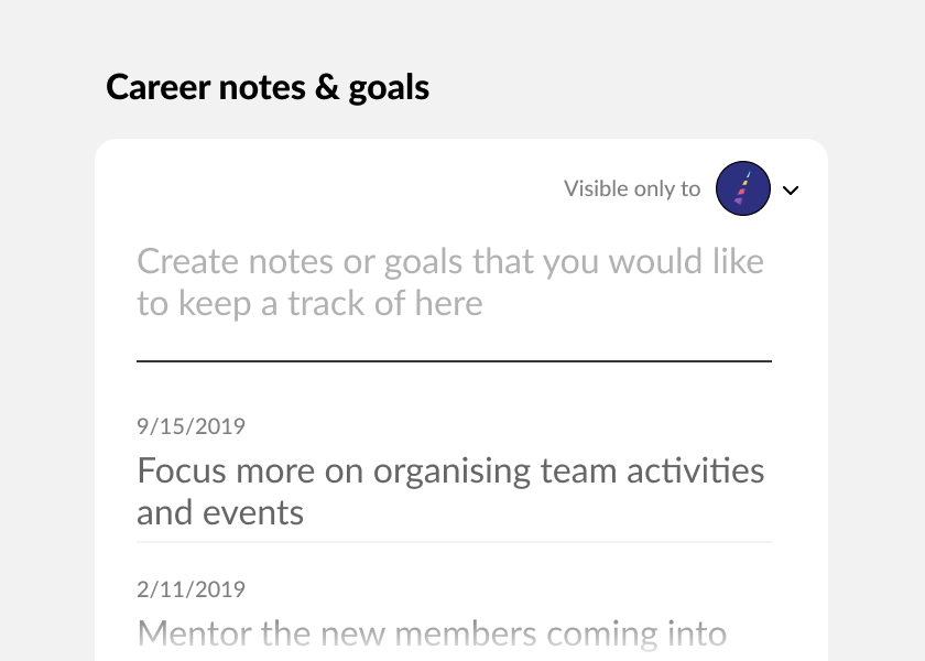 Keep a track of goals and HR discussions with MuchSkills