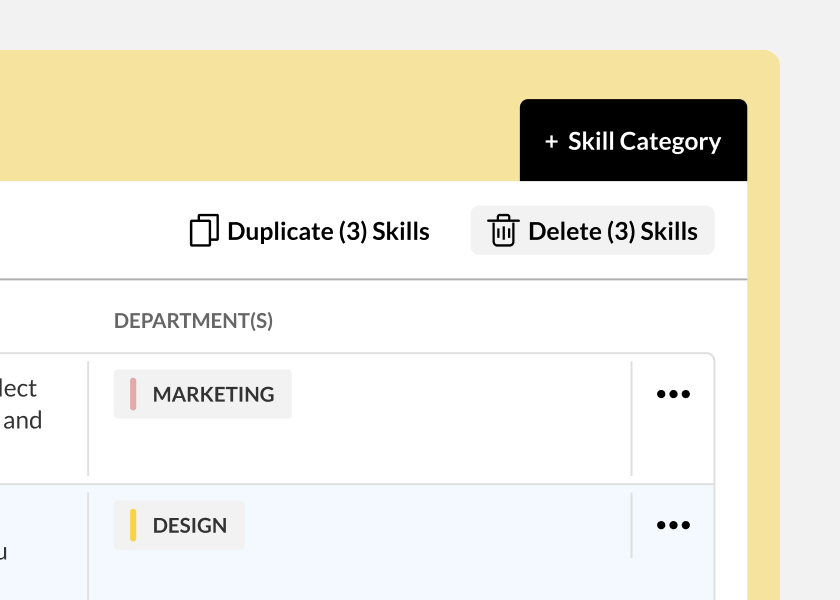 Add multiple skill sets