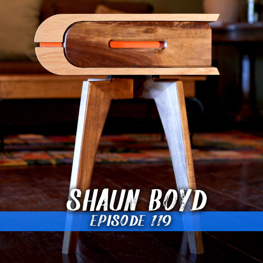 This week we chat with Shaun Boyd of Shaun Boyd Made This. Shaun is an amazing modern furniture maker who has made the transition from client work to content creator. We get into finding clients, approaches to design and his process for making templates!