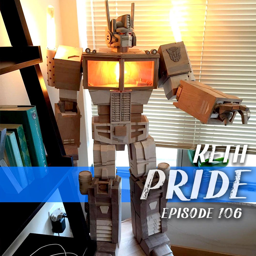 This week we chat with Keth Pride about the intersection of walnut, stained glass and Star Wars.