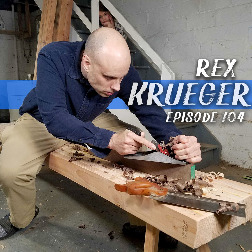 This week we chat with woodworker and woodturner Rex Krueger. We get into Rex's journey from the world of Academia to pro woodworking shops to running his own business and how he supports it all with lots of income streams.