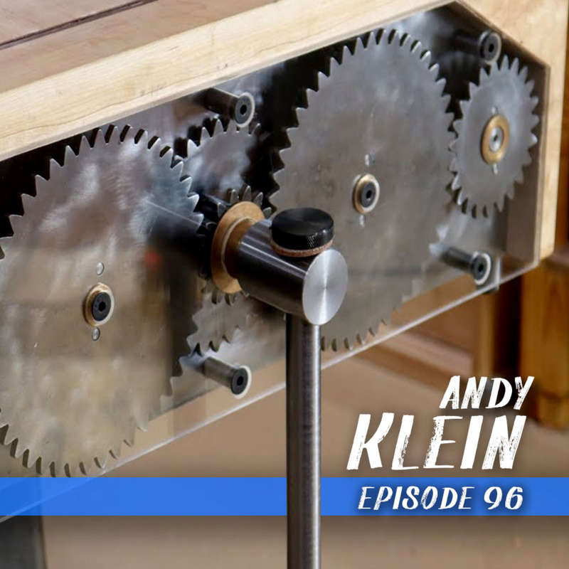 This week we chat with woodworker and inventor Andy Klein. We get into his recent twin screw vise Kickstarter as well as his new jig to create pencils with a hand plane.