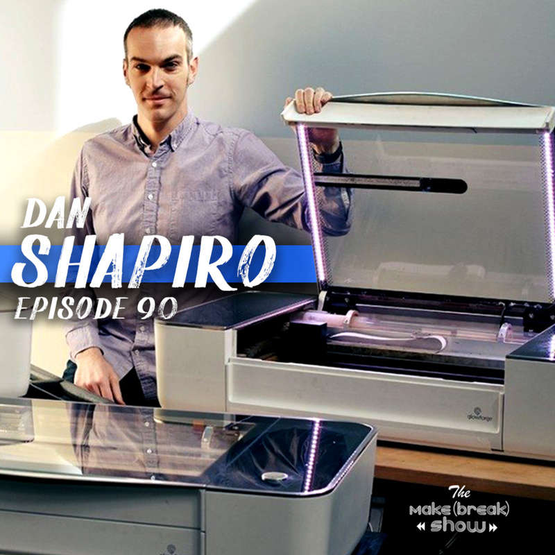 This week we chat with Dan Shapiro the CEO and founder of Glowforge. Find out how Dan's background in software and crowdfunding led him to create one of the most wished for tools in anyone's shop...a Glowforge.