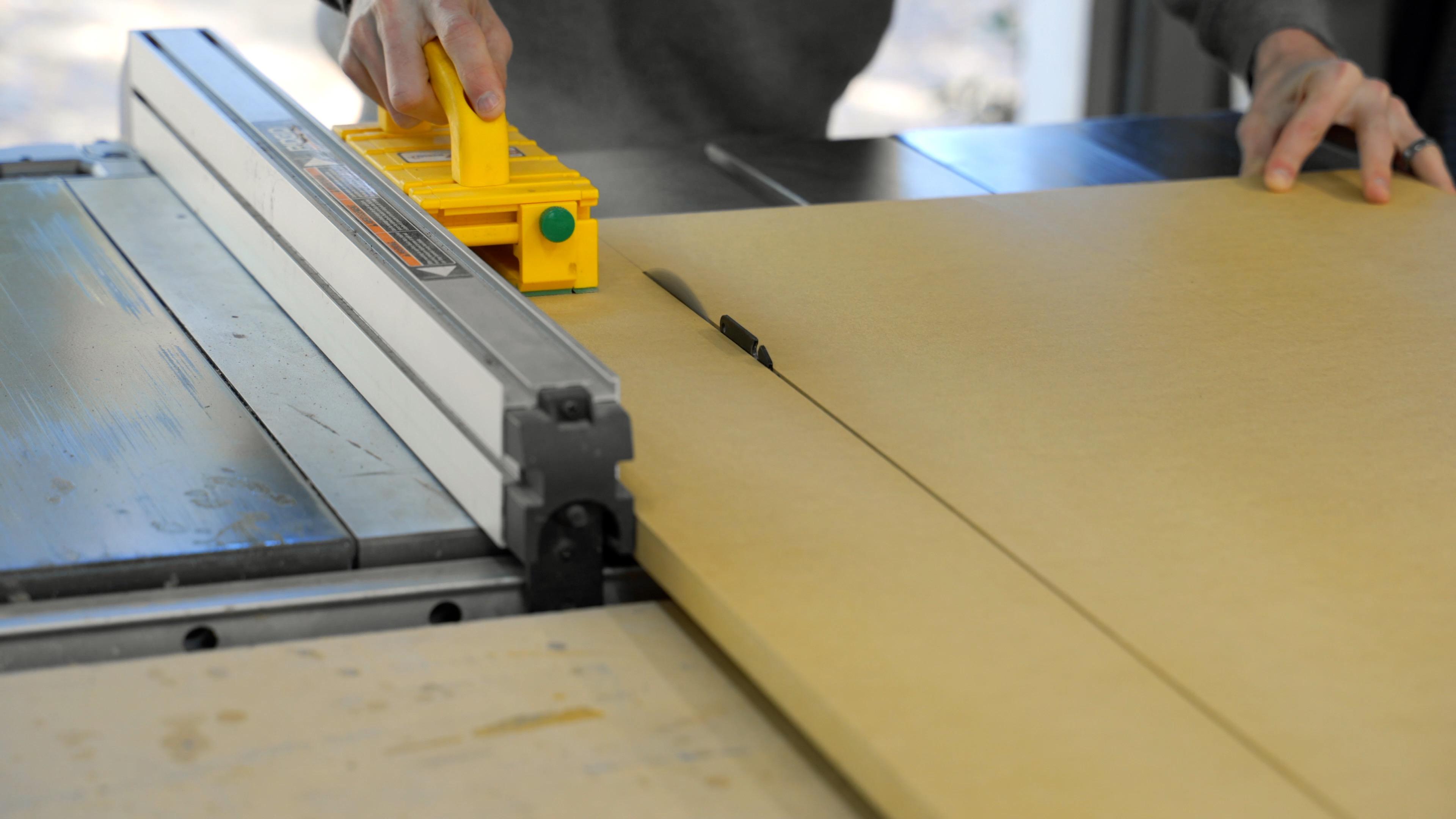 Cut MDF on table saw