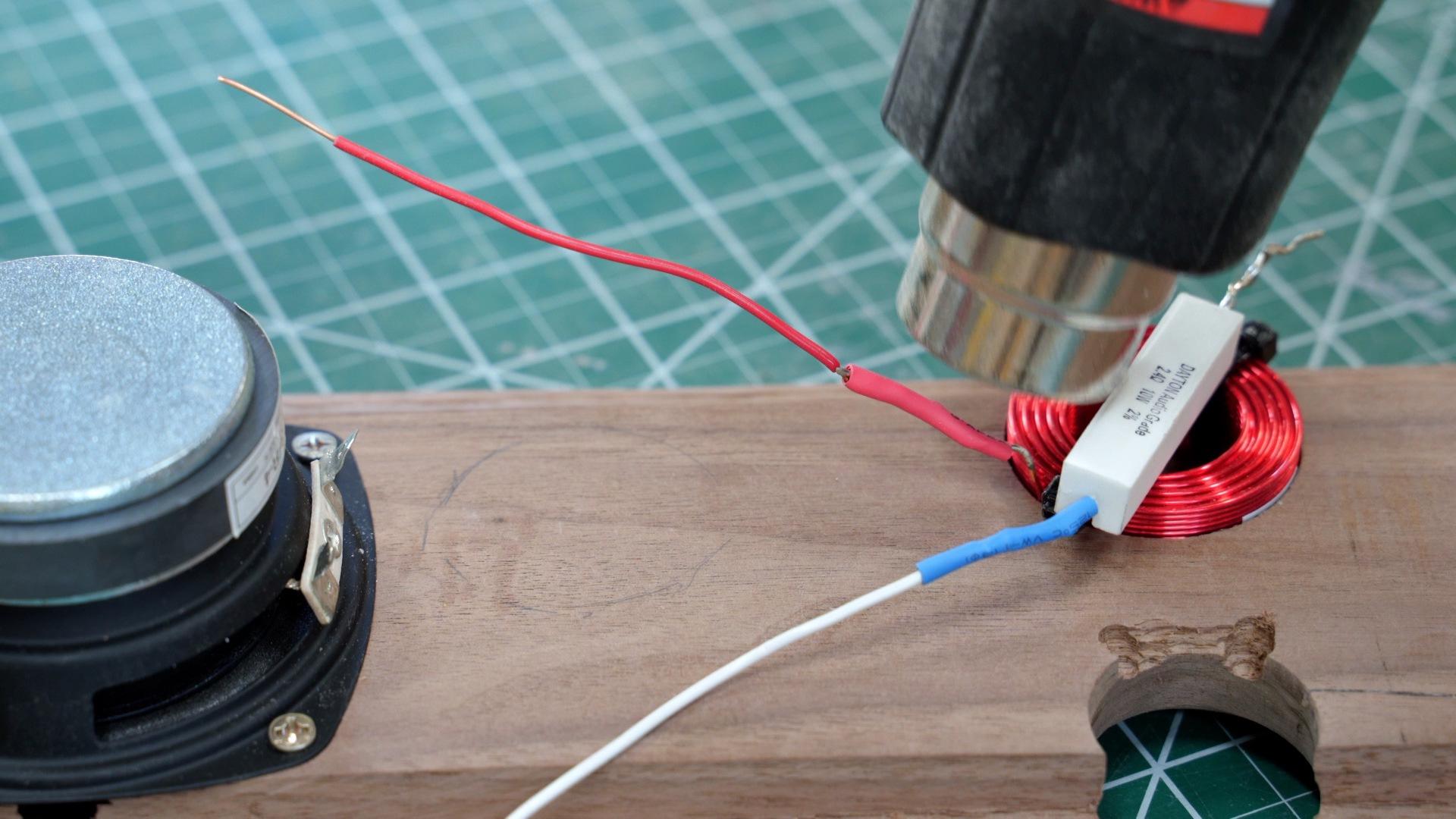 Use a heat gun to heat shrink soldered wires