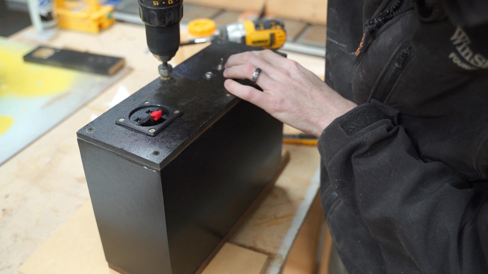 Countersink holes on the speaker back
