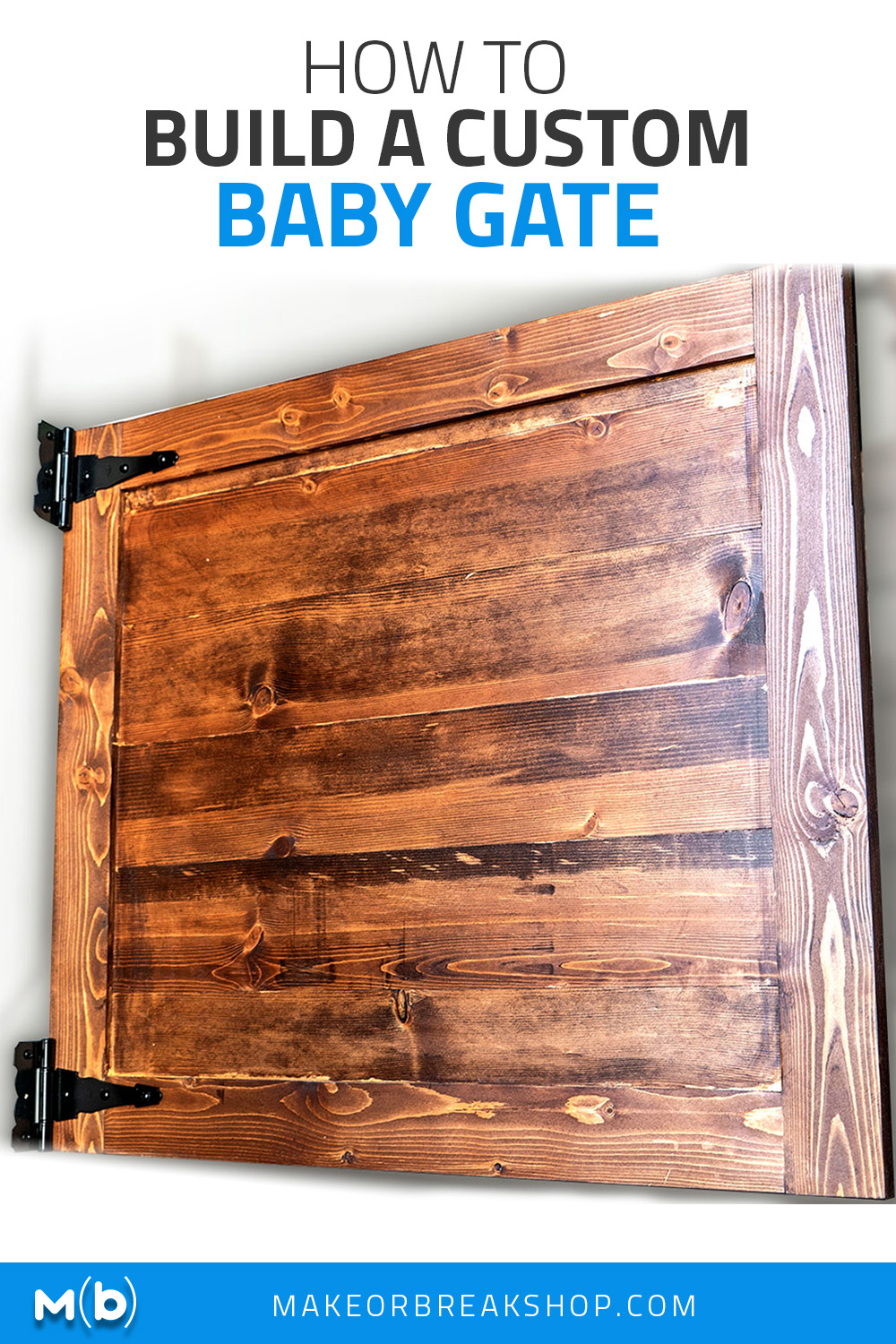 Build a custom baby gate for your house that fits exactly where you want it. Plus you only need construction labor and it's cheap!