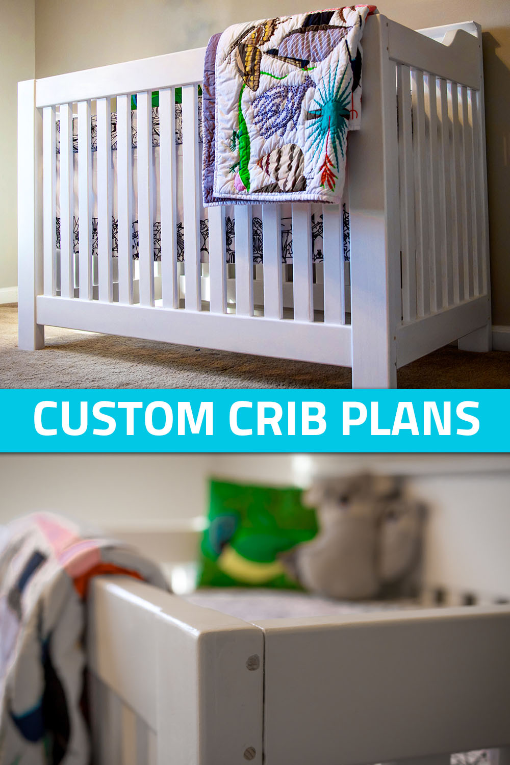 Build your own crib with these full plans, including cut lists, diagrams and dimensions