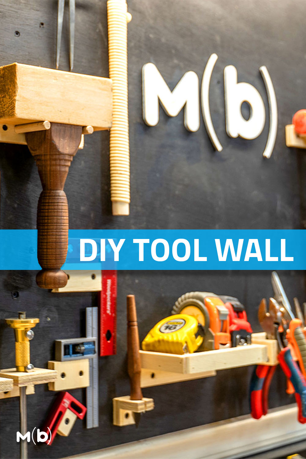 Build a DIY Tool Wall from scrap lumber that makes a perfect addition to your shop!