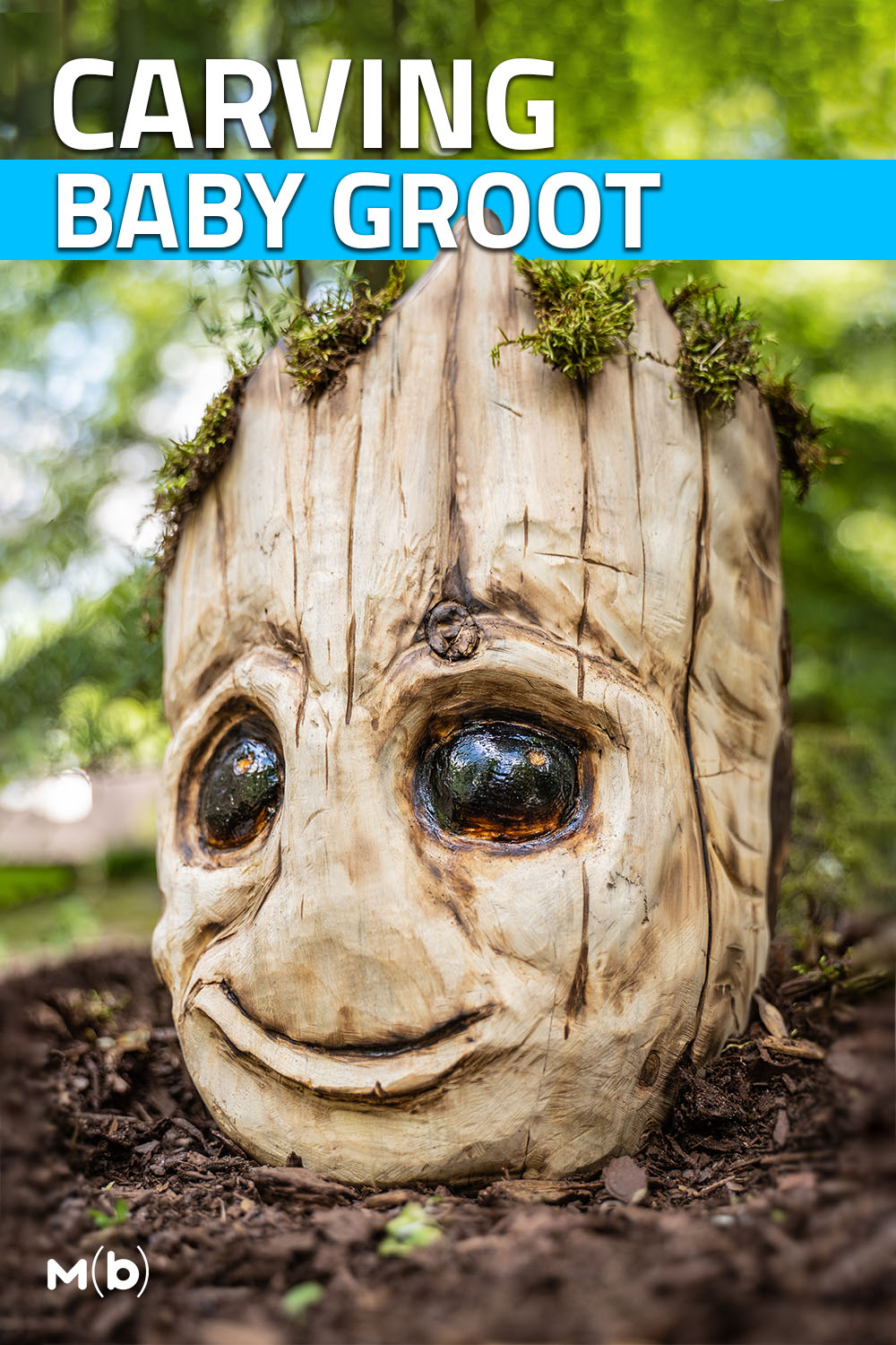 Turn a cedar log into Groot from Guardians of the Galaxy Planter #garden #diy
