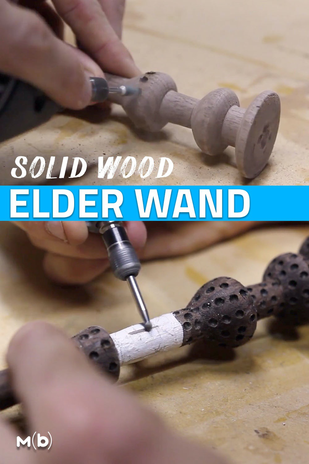 How to make the Elder Wand from Harry Potter out of solid wood on the wood lathe #woodworking #woodturning #diy