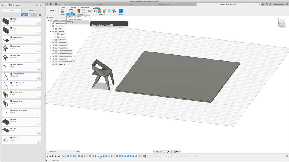 Use Nester to create flat pack designs in Fusion 360