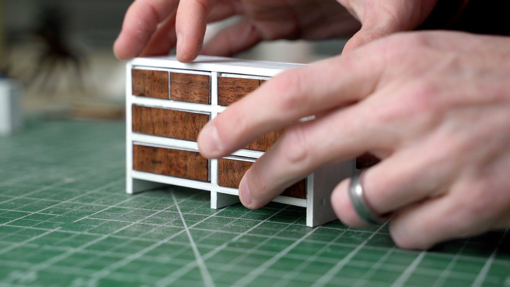 Miniature dresser drawers