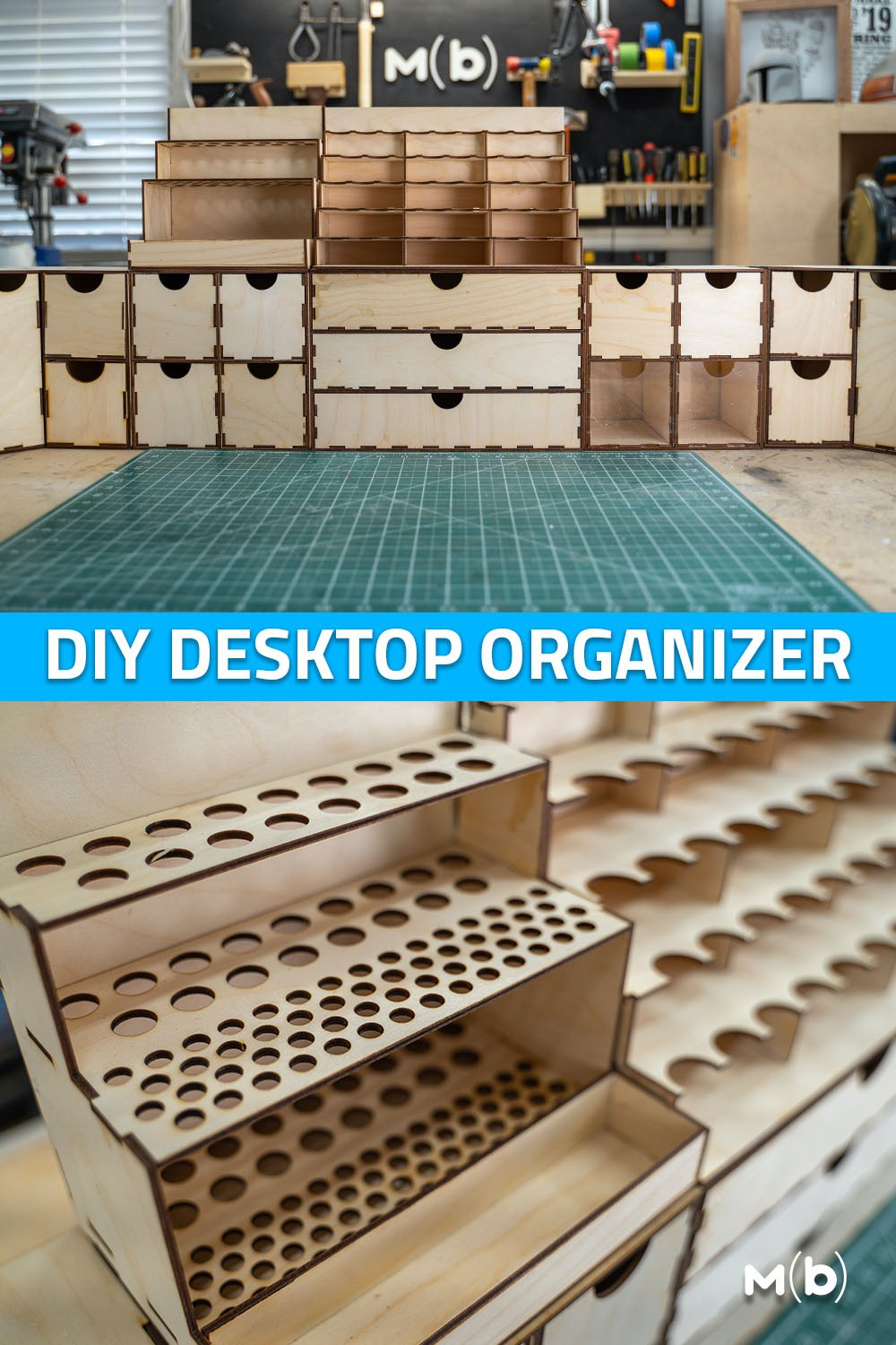 Build a DIY Miniature Organizer from laser cut plywood. Includes free plans. Good setup for miniatures!