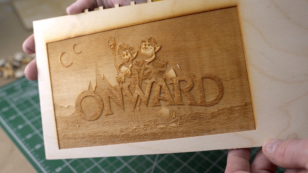 Laser Engraved Onward Poster