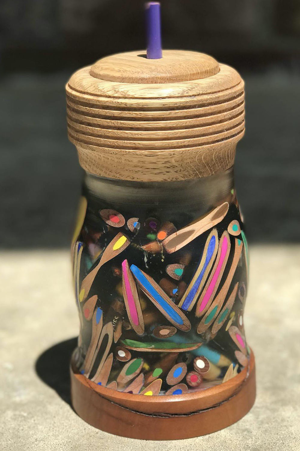 Learn how to make a colored DIY pencil container with Matt Myers #ColoredPencils #Crafting #DIY