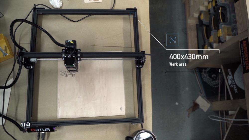 Ortur Laser Master Engrave Work Area