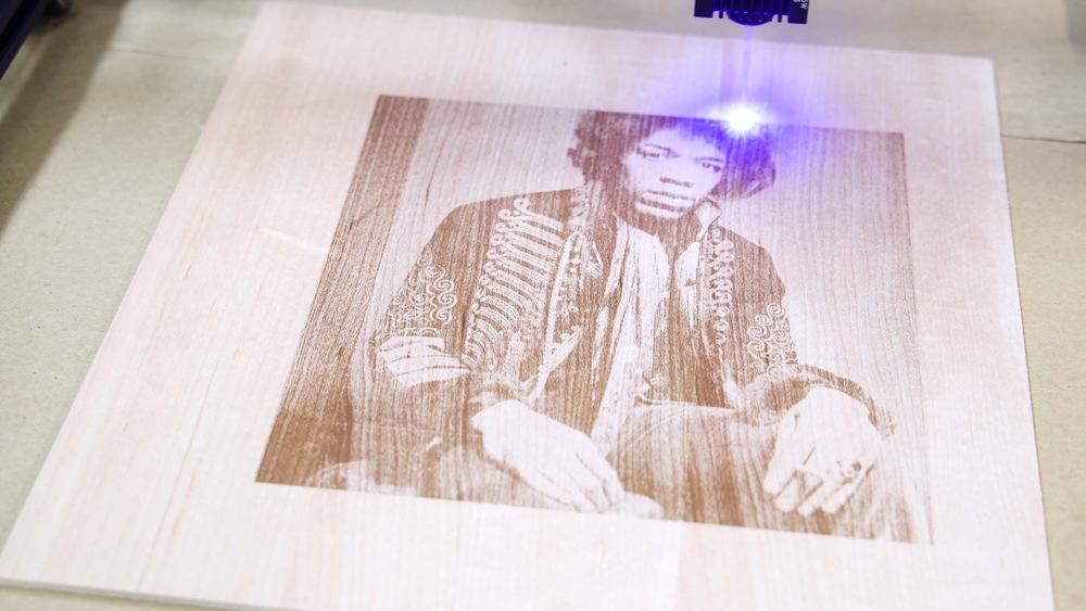 Laser Engraved Jimmy Hendrix Portrait