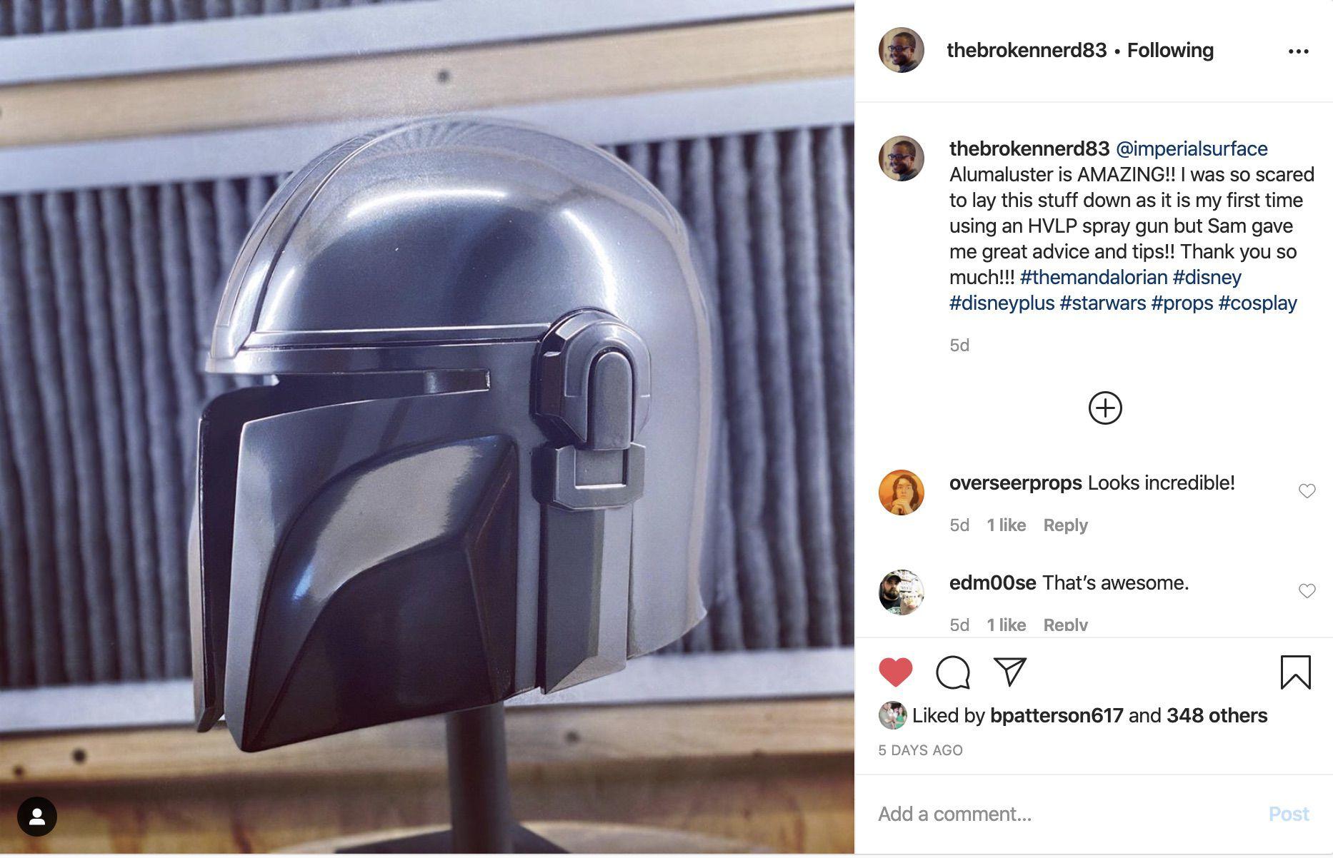 Broken Nerd Mandalorian Helmet