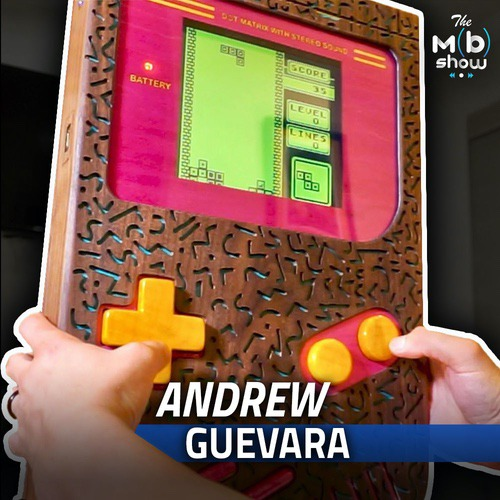 This week we are chatting with Andrew all about his collaboration build with RIcky Saetta where they built a giant wooden Game Boy that is playable. We get into the design process as well as the crazy electronics he put into it!